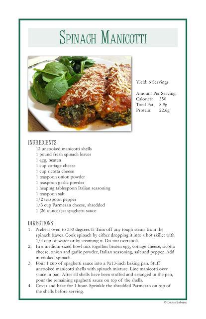 Homemade Spinach Manicotti Recipes — Dishmaps
